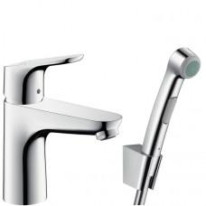 Смеситель для раковины с гигиеническим душем Hansgrohe Focus, 31927000