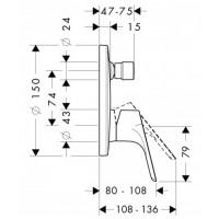 Смеситель для ванны однорычажный Hansgrohe Focus E2 31946000