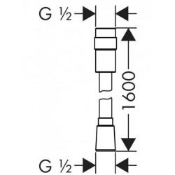 Душевой шланг Hansgrohe Isiflex 160 см 28248000