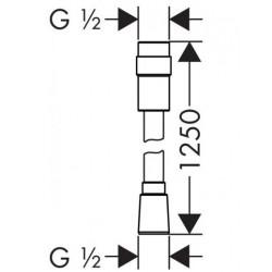 Душевой шланг Hansgrohe Isiflex 125 см 28249000