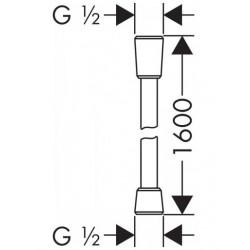 Душевой шланг Hansgrohe Isiflex 160 см 28276700