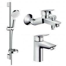 Набор смесителей для ванны Hansgrohe Logis 1082019 (71100000+71400000+26553400)