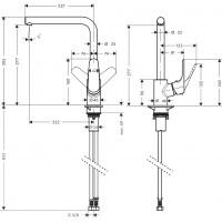 Смеситель для кухни однорычажный Hansgrohe Focus 31817800
