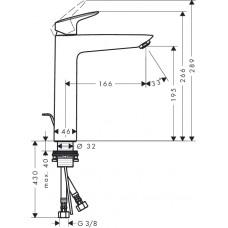 Смеситель для раковины Hansgrohe Logis, 71090000