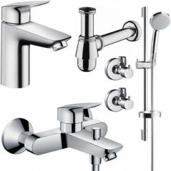 Набор смесителей для ванны 5 в 1 Hansgrohe Logis 100, 711714511