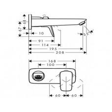 Верхняя часть смесителя для раковины HANSGROHE Logis 71220000