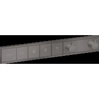 Термостат Hansgrohe RainSelect скрытого монтажа на 4 потребителя Brushed Black 15382340