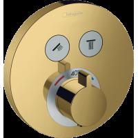 Термостат для душа Hansgrohe ShowerSelect S Polished Gold Optic 15743990