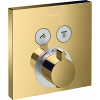 Термостат для душа Hansgrohe ShowerSelect Polished Gold Optic 15763990