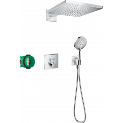 Душевой комплект Hansgrohe Raindance E 300 1jet ShowerSelect Square 6в1 27952000 хром