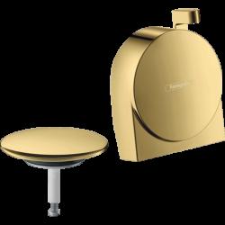 Внешняя часть сифона для ванны Hansgrohe Exafill S Polished Gold Optic 58117990