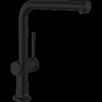 Смеситель Hansgrohe Talis M54 для кухонной мойки с выдвижным душем, черный матовый 72808670