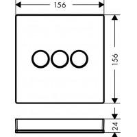 Внешняя часть смесителя Hansgrohe ShowerSelect, 15736400