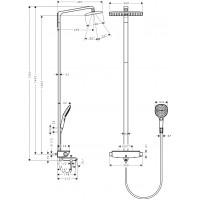 Набор для комплектации душа HANSGROHE Raindance Select 360 Showerpipe Душевая система ( 27113000 )