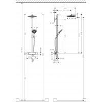 Термостатическая душевая система Hansgrohe Raindance Select S 240 2jet Showerpipe, 27129000