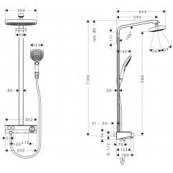Душевая система Hansgrohe Raindance Select E 2JET Ecosmart 27283400