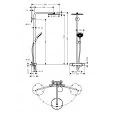 Душевая система с термостатом Hansgrohe Raindance Select S Showerpipe 240 1jet P, 27633000