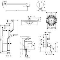 Набор для комплектации душа Hansgrohe Logis Loop 1122019