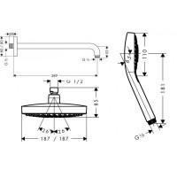 Набор для комплектации душа  HANSGROHE Logis Crometta, 72640000