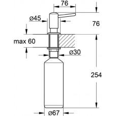 Дозатор жидкого мыла GROHE, нержавеющая сталь, 40536DC0
