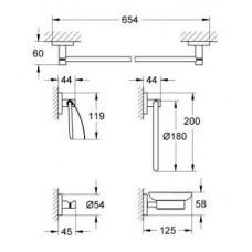 Набор аксессуаров Grohe Essentials 5в1, 40344001