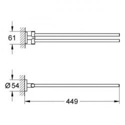 Полотенце держатель Grohe Essentials New 40371AL1