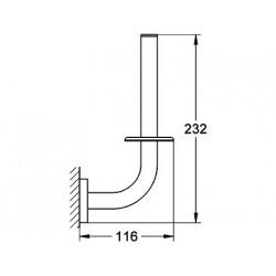 Держатель для запасной  туалетной бумаги Grohe Essentials New, 40385001