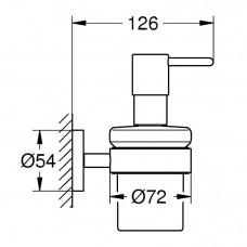 Дозатор жидкого мыла с держателем GROHE Essentials, 40448001