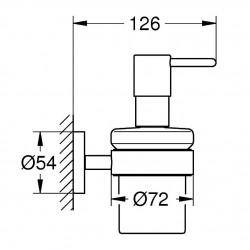 Дозатор с держателем Grohe Essentials New, 40448001