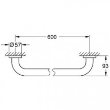 Ручка для ванны Grohe Essentials New 60 см, 40794001