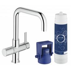 Смеситель кухонный GROHE Blue Pure, с системой очистки воды и подключением к фильтру 31299001