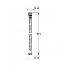 Шланг для душа Grohe Rotaflex 150 см, 28409001