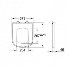 Сиденье для унитаза Grohe Euro Ceramic 39458000