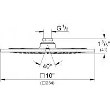 """Верхний душ Grohe Rainshower F-Series 10"""", 27271000"""