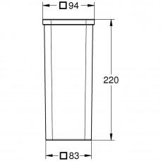 Запасное стекло для туалетной щетки Grohe Selection Cube, 40867000