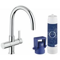 Смеситель кухонный GROHE Blue Pure 33249001 с системой очистки воды и подключением к фильтру