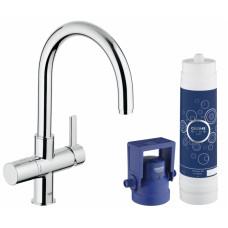 Смеситель кухонный GROHE Blue Pure с системой очистки воды и подключением к фильтру 33249001
