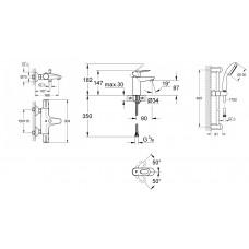 Комплект смесителей GROHE BauLoop, 34550TS