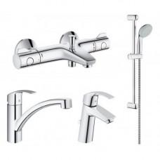 Набор смесителей для ванны Grohe Grohtherm, Eurosmart, 345534