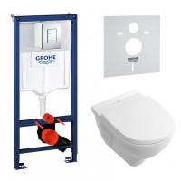 Комплект: Инсталляционная система Grohe Rapid SL 38772001   + подвесной унитаз V&B O.Novo с крыш