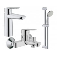 Набор смесителей для ванны GROHE BauEdge 123367M (23758000 + 32820000 + 27598000)