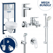 Набор для ванны Grohe Mega Bundle BauLoop (39192000+111042+123214S+40407001) 39192МВ0
