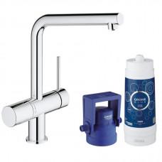 Смеситель для мойки Grohe BLUE® Minta Pure 31345002 хром, cтартовый комплект