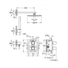 Набор для комплектации душа  Grohe Grohtherm Cube 34506000