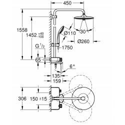 Душевая система с термостатом  Grohe Euphoria SmartControl System 260 Mono, 26510000