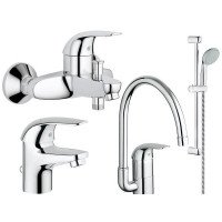 Набор для ванной и кухни GROHE Euroeco, 123242K