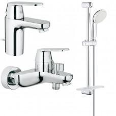 Набор смесителей для ванной S-size Grohe Eurosmart Cosmopolitan, 126111S