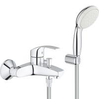 Смеситель для ванны Grohe Eurosmart с душевым гарнитуром, 3330220A
