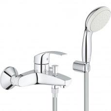 Смеситель для ванны Grohe Eurosmart с душевым гарнитуром 3330220A