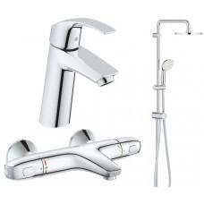 Набор смесителей ванны Grohe Eurosmart 34102TS (23324001+34155003+27389002)